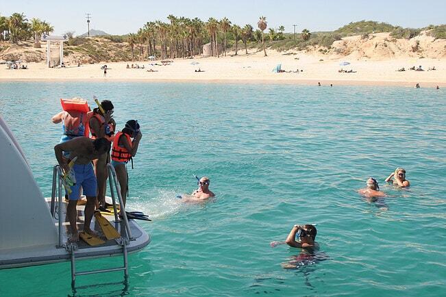 caborey snorkeling tour in los cabos at chileno bay cabo san lucas cabo rey