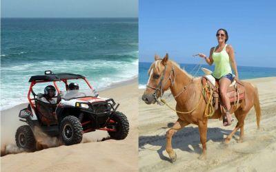 Cabo combo deals, cabo horse riding combo, cabo horseback tours, horseback and atv tours