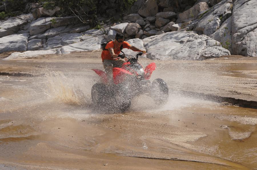 Enjoy the scenery of the Real Baja California Sur on a discounted ATV Tour or Polaris RZR Razor Tour Cabo San Lucas sport atv adventure