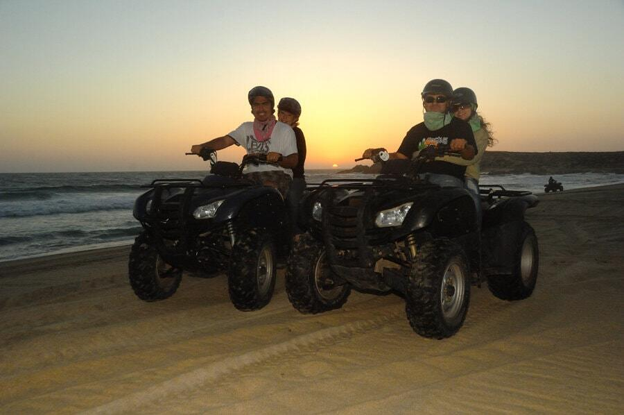 Cactus ATV Tours beach and desert tour cabo san lucas sunset over the pacific ocean on our sunset atv tours