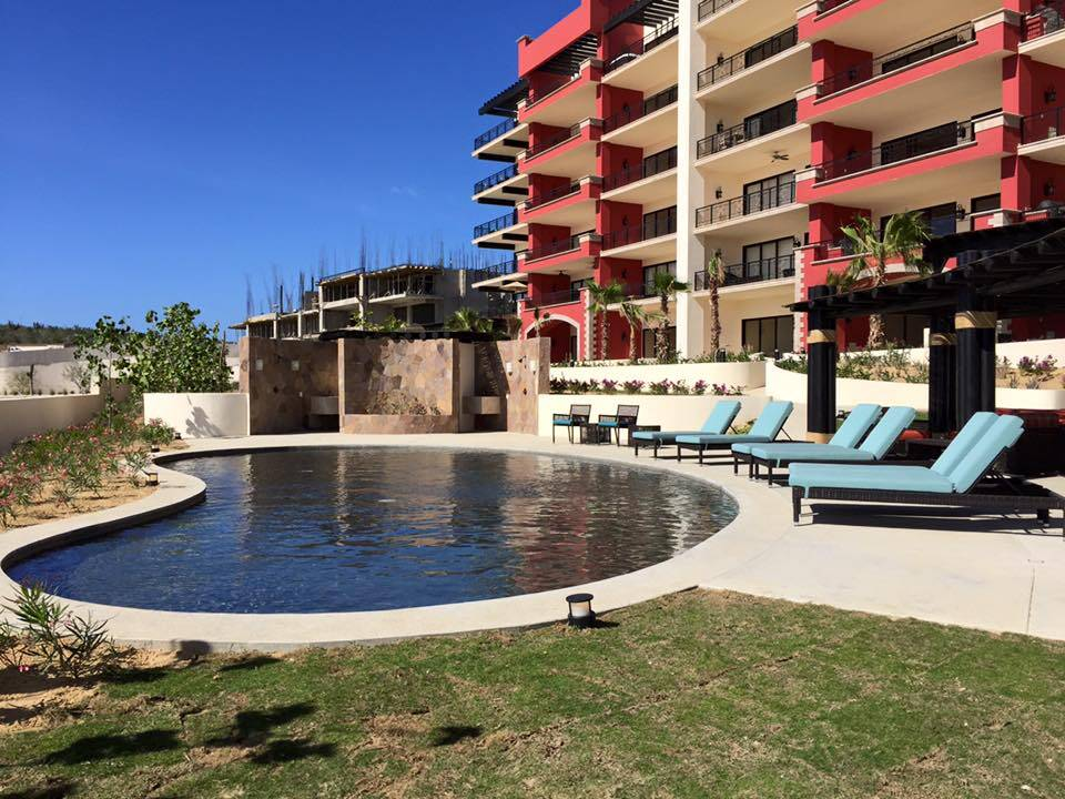 Common Pool area at Copala Condos in Los Cabos Mexico