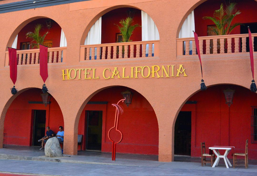 Hotel California in Todos Santos tour, just near cabo san lucas