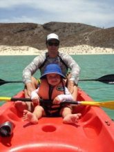 take a kid kayaking in balandra beach