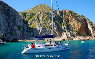 Enjoy the spectacular sunsets on our sunset sail and see the sun melt into the sea in cabo san lucas