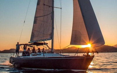 pursuit of cortez sunset and snorkeling sailing charter leaving from Puerto Los Cabos marina in San Jose del Cabo