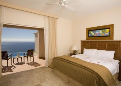 master bedroom Pueblo Bonito Montecristo Estates offers spectacular ocean views of the pacific ocean in cabo san lucas, overlooking quivira golf club