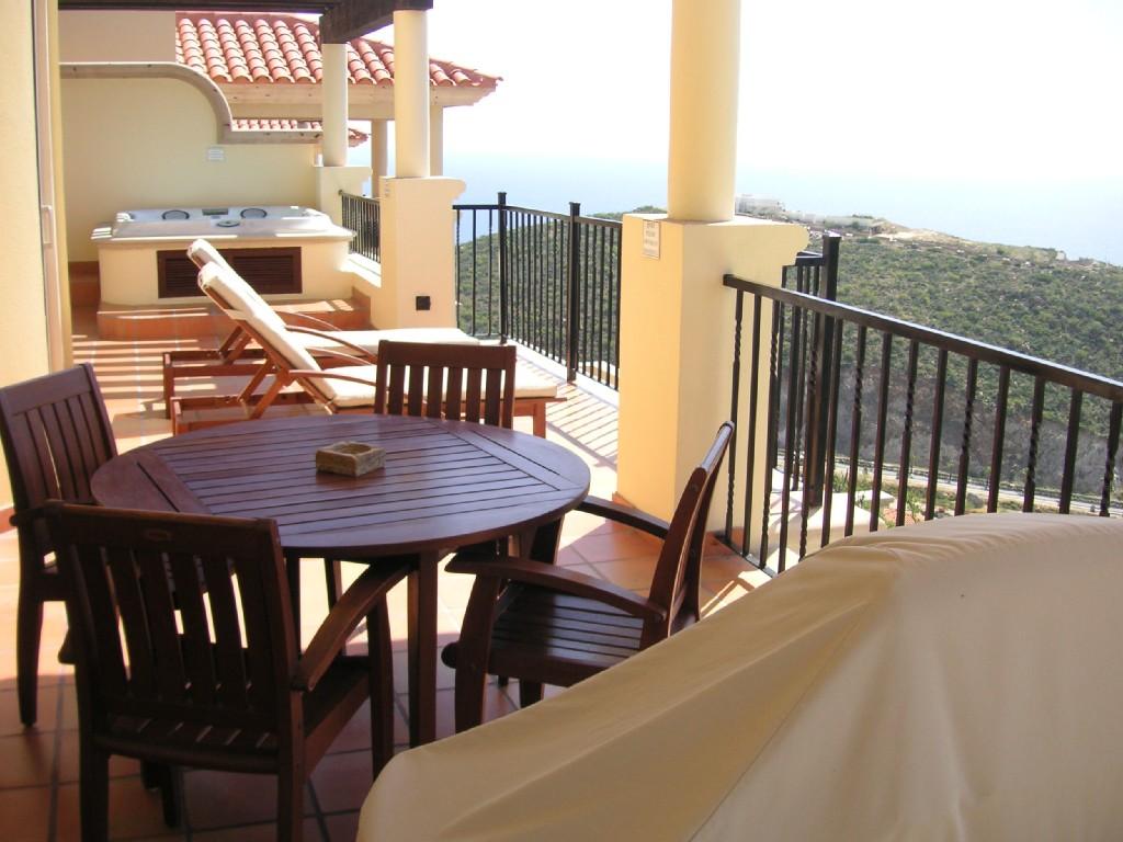 deck breakfast table Pueblo Bonito Montecristo Estates offers spectacular ocean views of the pacific ocean in cabo san lucas, overlooking quivira golf club