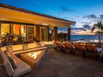 casa theodore in Pedregal los cabos luxury vacation villas cabo san lucas fire pit