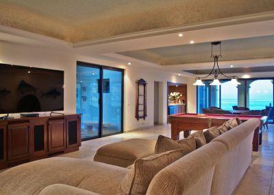 casa del mar palmilla los cabos luxury oceanfront rental villa tv area