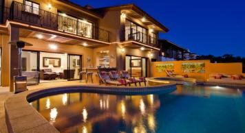 Casa Mega point is one of los cabos most sought after luxury vacation villas for bachelor parties pool area