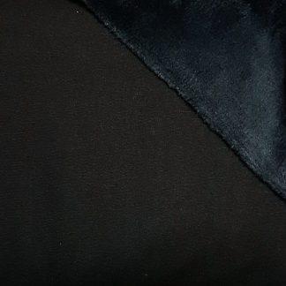 Navy Alpine Fleece Stretch Sweat Fabric