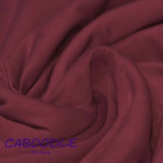 Bordeaux Red - Cotton Lycra Jersey Knit Fabric