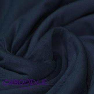 Dark Navy - Cotton Lycra Jersey Knit Fabric