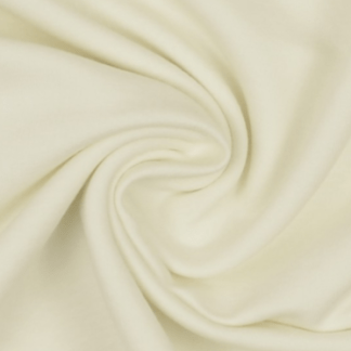 Cream, Organic Cotton Lycra Jersey Knit Fabric