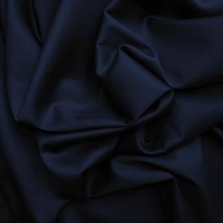 Dark Navy Jardin Stretch Cotton Sateen Fabric