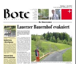 Wird dem Layout der Neuen Luzerner Zeitung angepasst: Der Bote der Urschweiz