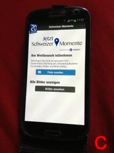 Die User der 20 Minuten-App wurden via Push-Nachricht zur Teilnahme an Schweizer Momente aufgefordert