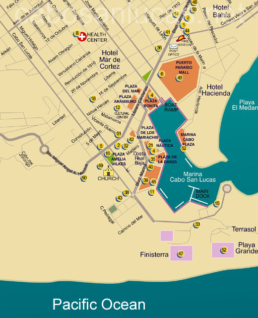 Maps Of Cabo San Lucas Hotels : lucas, hotels, Lucas