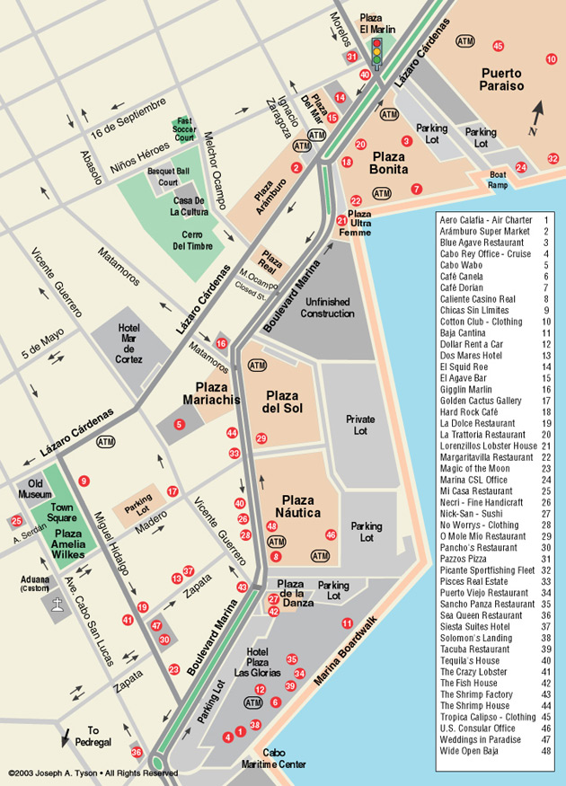 Maps Of Cabo San Lucas Hotels : lucas, hotels, Downtown, Lucas, Cabos, Guide