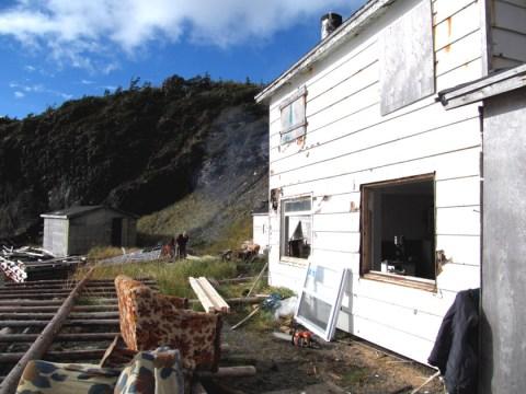Restoration Begins on Back Cove Base Camp