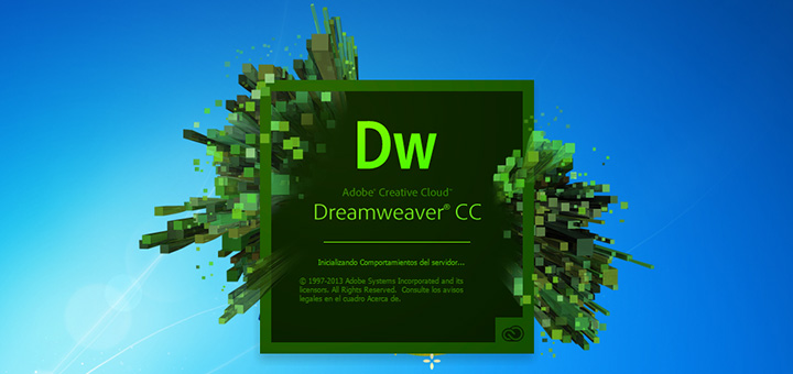 Splash screen Dreamweaver
