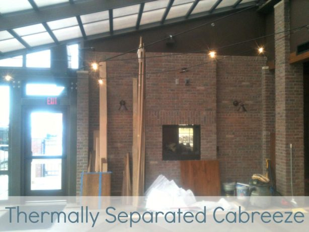 Thermally Separated Cabreeze Inside