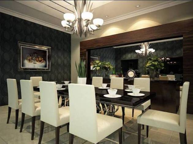 4. Luxurious Dining Room Wall Decor With Mirror - Cabritonyc.com
