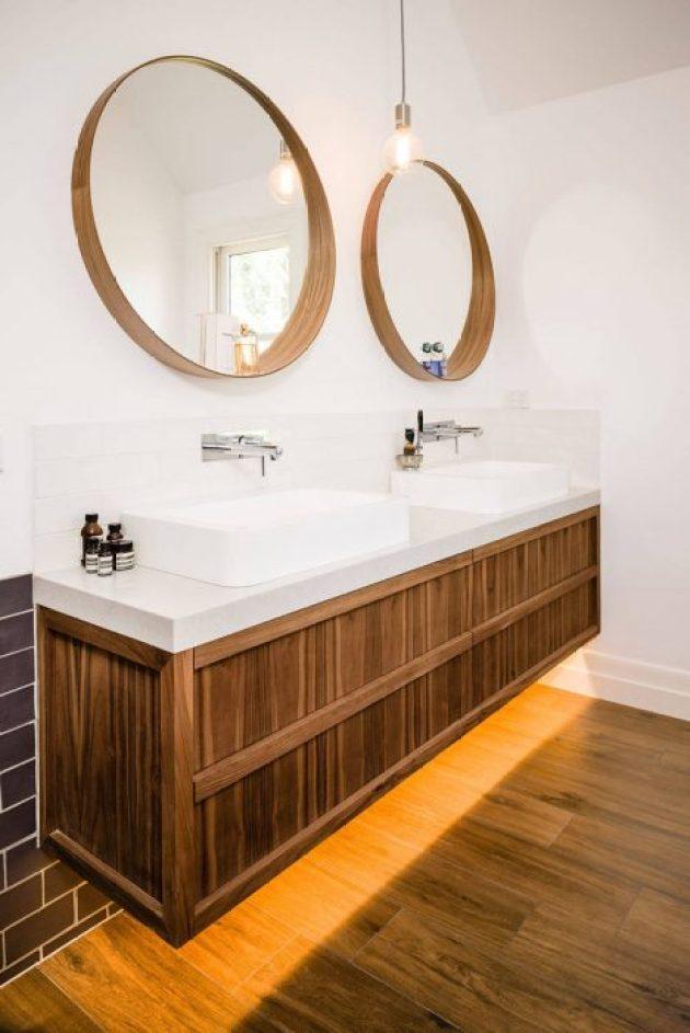 Bathroom Mirror Ideas - Two Round Mirrors 3 - Cabritonyc.com