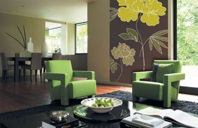 Accent Wall Ideas - Gorgeous With Floral Designs C - Cabritonyc.com