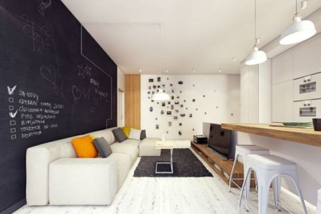 Accent Wall Ideas - Alluring Chalkboard A - Cabritonyc.com