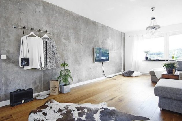 Accent Wall Ideas - Concrete - Cabritonyc.com