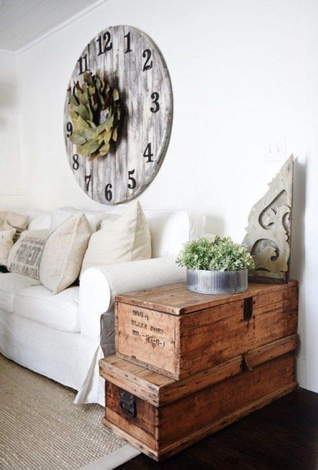 Rustic Chic Living Rooms Ideas - An Elegant Driftwood Lockbox Room - Cabritonyc.com