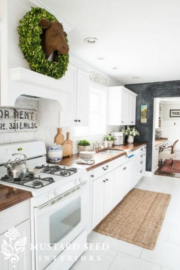Farmhouse Kitchen Decor Design Ideas - Country White Cabinetry & Kitchen Tiles - Cabritonyc.com