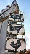 Farmhouse Kitchen Decor Ideas Oink Moo Cockadoodledoo Welcome Sign