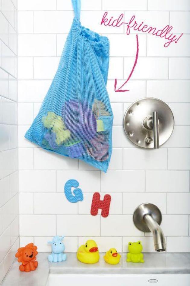 Bathroom Organizing Ideas 11 Bath Toy Bag