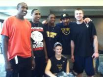 Zach-Miracle-66-Zach-with-WVU-Basketball-Team-at-HealthSouth-2012-07-19