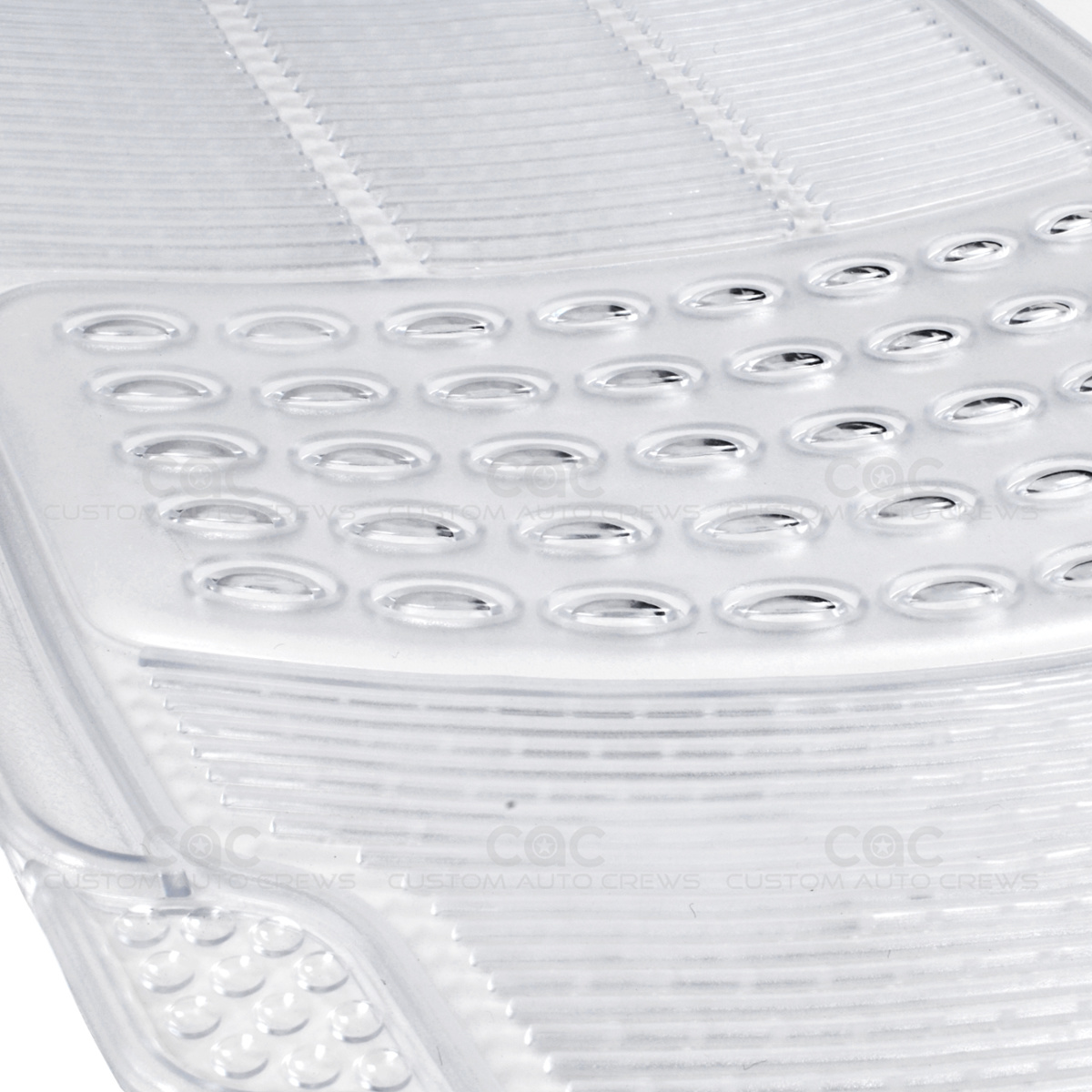 Clear Rubber Car Floor Mats Front 2 Piece Set All Weather