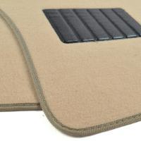 Cream Beige Carpet Car Floor Mats - Set of 4 Driver ...