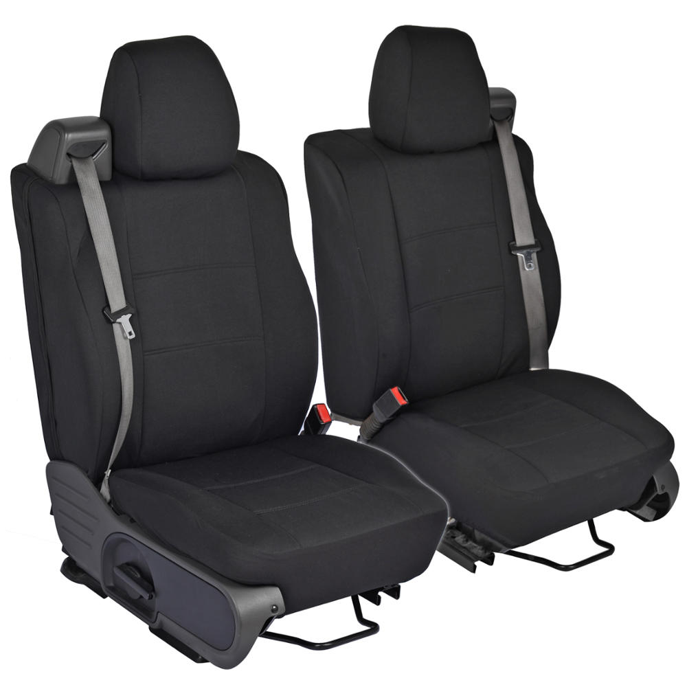 Black Front Pair Custom Seat Covers for Ford F150 0408