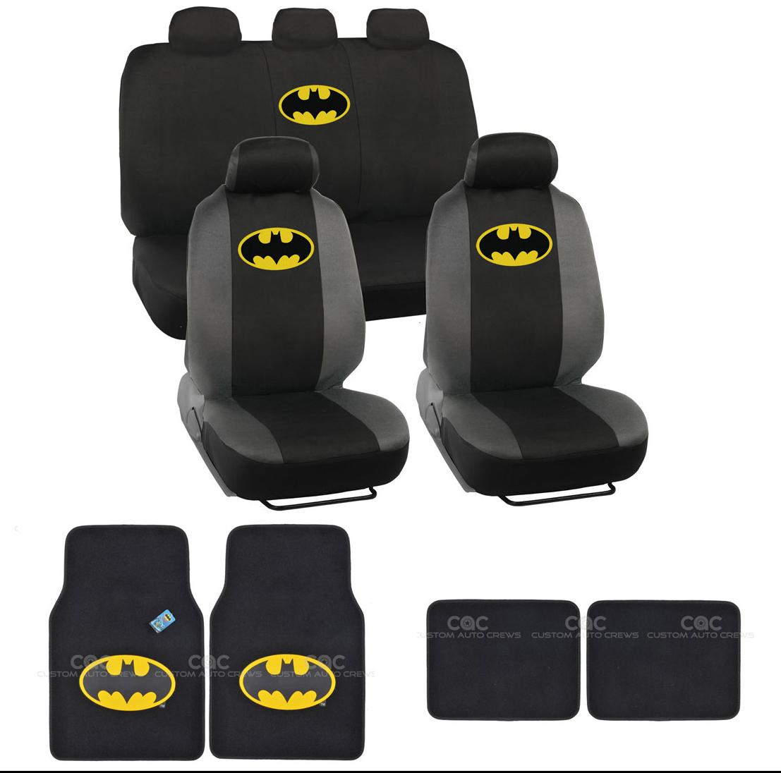 batman car chair ikea white rocking seat covers yellow on black logo w matching