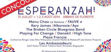 Concours Ca C'est Culte Festival Esperanzah 2014 floreffe