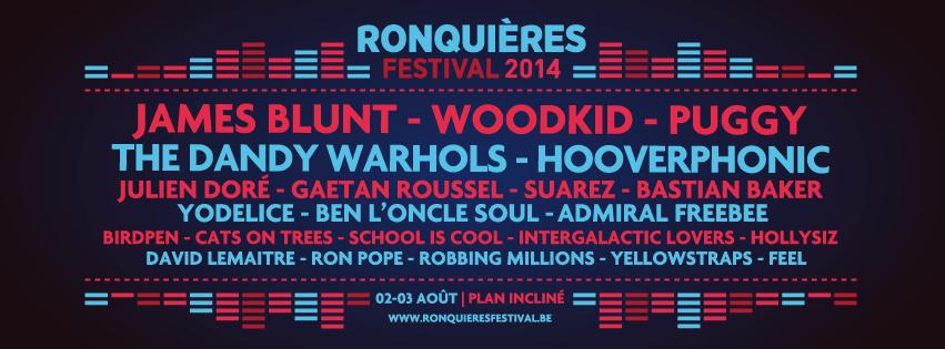 Ronquières Festival ronquieres festival 2014 james blunt yodelice julien dore hollysiz