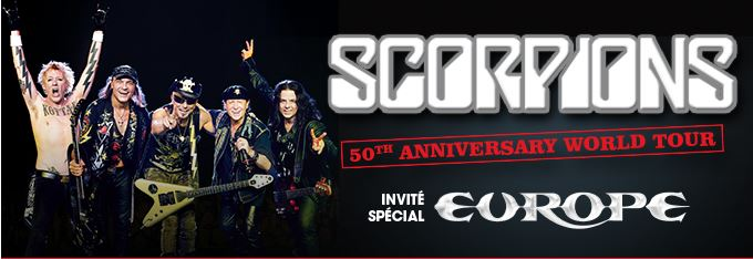SCORPIONS et EUROPE en tournée 2015 scorpions europe 2015 tournee france