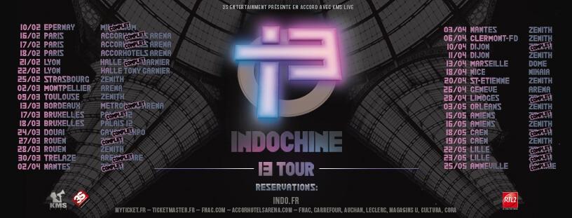 Indochine - 13 Tour (Visuel Tournée)