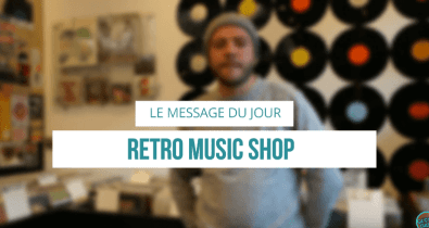 Le message du jour Retro Music Shop Vintage Weekender Condition Publique Roubaix