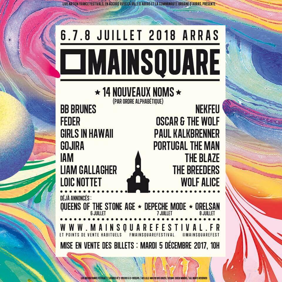 Main Square festival 2018 ça c'est culte billet ticket place réservation