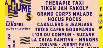 Festival LE CHIEN A PLUMES 2.3.4 août 2019 à LANGRES (Haute-Marne) Lac de Villegusien 23e édition