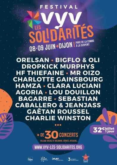 Festival VYV Les Solidarités : 8 et 9 Juin à Dijon