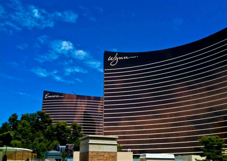 bringing sophistication and elegance to the las vegas strip the wynn hotel stands out against the bright lights and flashing sign