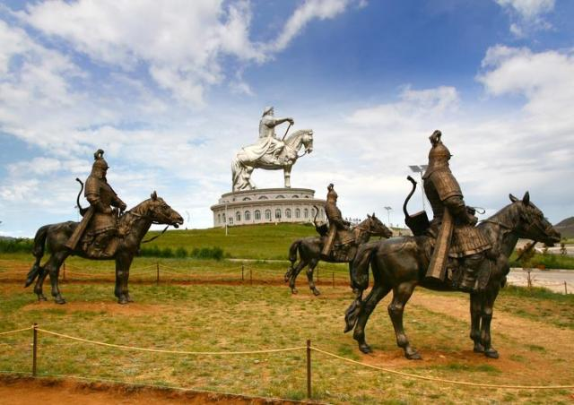 Image result for genghis khan statue